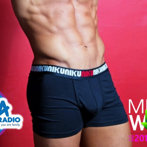 Nick from Niku Underwear discussing sponsoring Mr Gay World