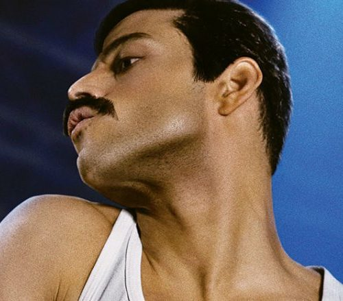 A picture of actor Rami Malek starring as Freddy Mercury in the upcoming movie Bohemian Rhapsody