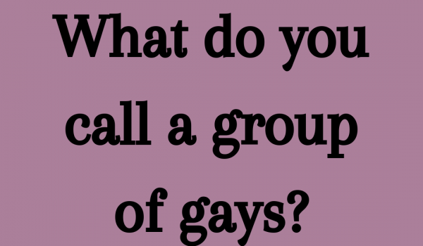 What do you call a group of gays?