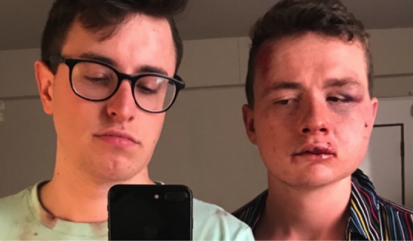 Three charged with hate crime after attack on gay couple in Washington DC